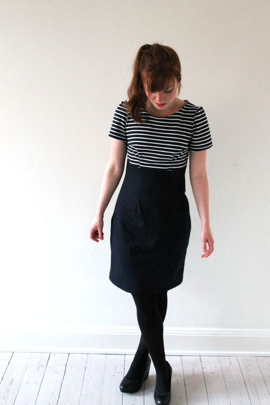 Alexandra's beautiful (stripy!) Megan dress - sewing pattern by Tilly and the Buttons