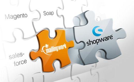 Frisch gemacht: mailingwork putzt sich mit einer neuen #Schnittstelle zur Onlineshop-Software von #Shopware® heraus.