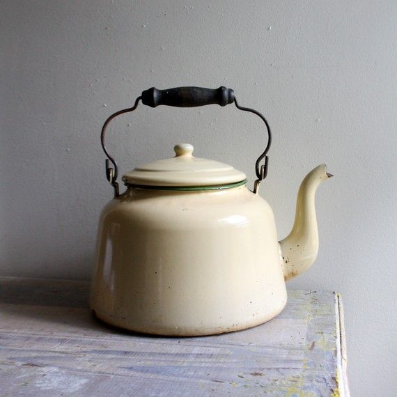 Tea Kettle. I need to visit flea markets more often to find one just like this :)
