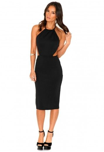 long dress backless midi