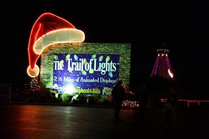 The Trail of Lights at Shepherd of the Hills is a Ozark Mountain Christmas must-do.