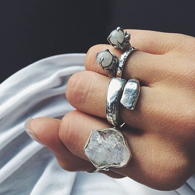 ☼ ☾ More Style Life, Opal Rings, Chunky Rings, Jewelry, Hippie Boho, Boho Style, Accessories, Silver Rings, Beauty Queens Chunky ring silver rings .accessories. free people hlsk atlas opal ring. ☮ American Hippie Bohéme ☮ Boho Style Jewelry ☮ // beauty queen of 18 //