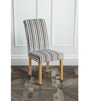 Genoa Jupiter Silver Upholstered Scroll Back Dining Chair