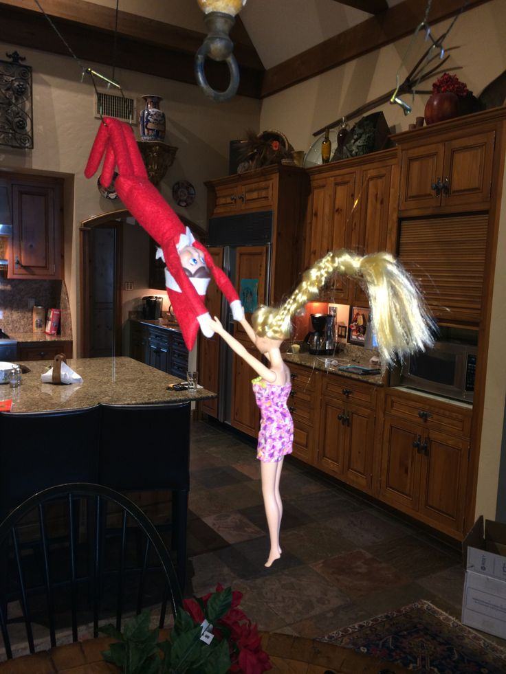 Elf On The Shelf Flying Trapeze With Barbie Christmas
