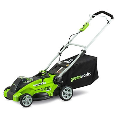 Electric Mulching Lawn Mower with Rear Bag