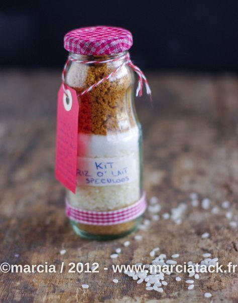 Kit riz au lait spéculoos : jolie bouteille à créer - Cadeau gourmand