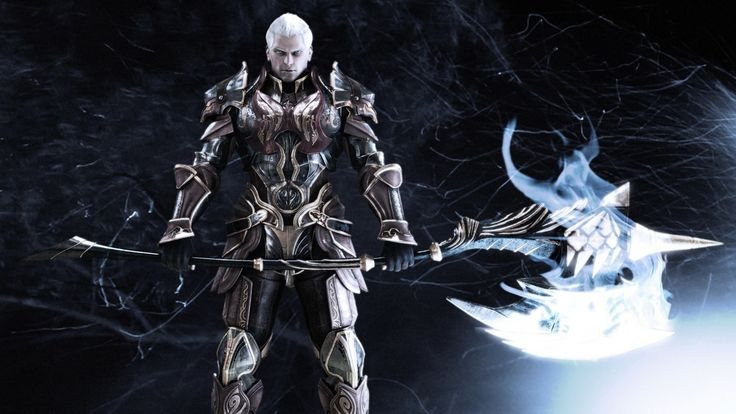 Game Aion Mmo Armor Axes Fans Fantasy Art Video Games Weapons White Hair #wallpapers #widescreen #backgrounds