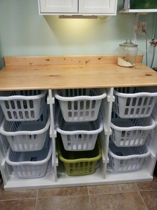laundry basket storage utility room ideas and laundry folding tables