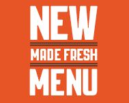Try Our New Menu!