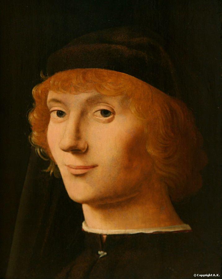 A . de Messine / Portrait d'un jeune homme