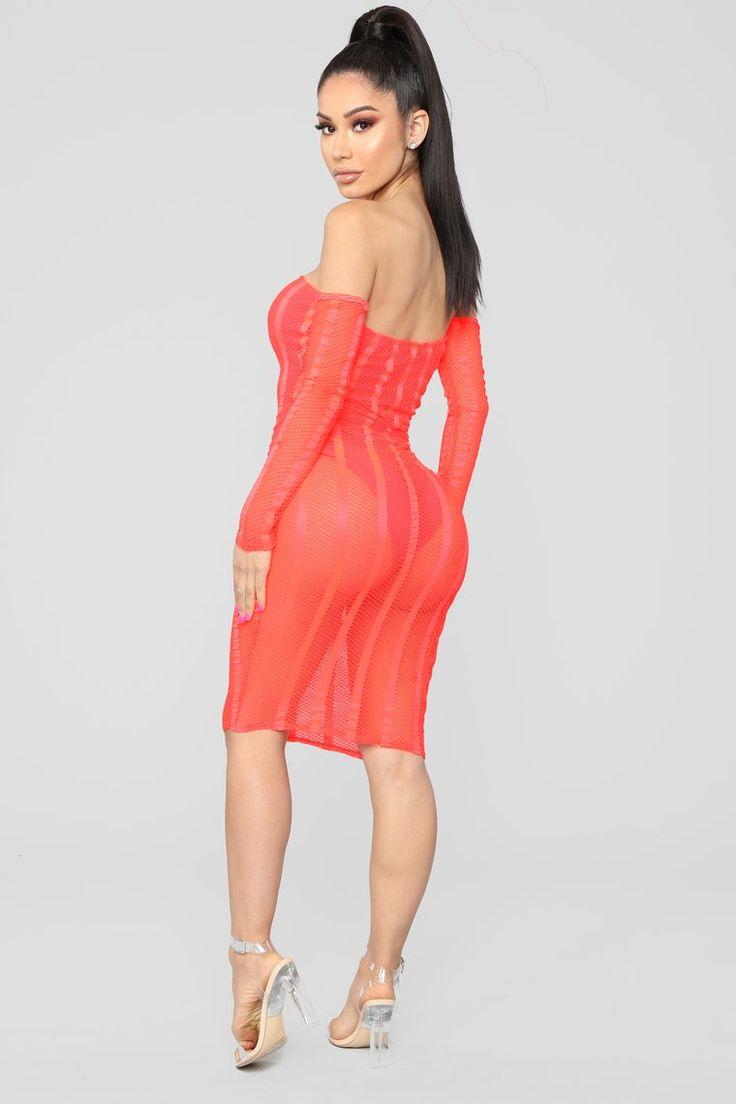 Brighter Than The Sun Dress Neon Orange