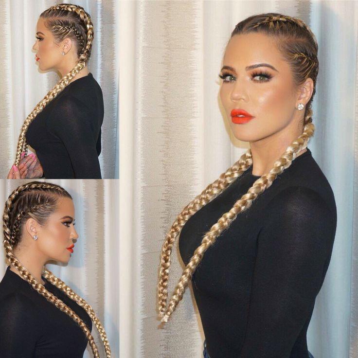 khloe kardashians braids �� hair amp beauty pinterest