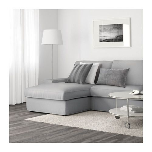 Sectional Sofas KIVIK Sofa Orrsta with chaise Orrsta light gray