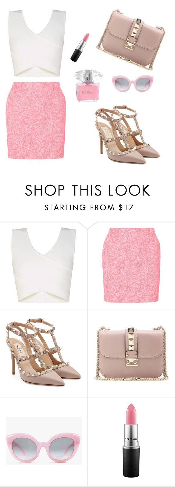 """Chanel Oberlin style "" by grintchristina ❤ liked on Polyvore featuring beauty, BCBGMAXAZRIA, Julien David, Valentino, Crap and Versace"