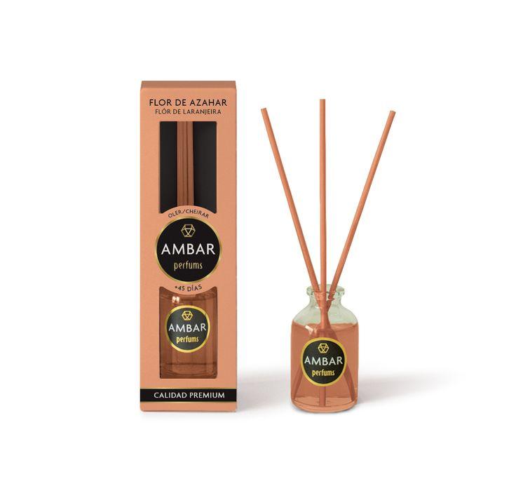 Ambientadorde mikado de 30 ml,0% Alcoholcon perfume a Flor de Azahar de Calidad Premium. Elimina los malos olores.