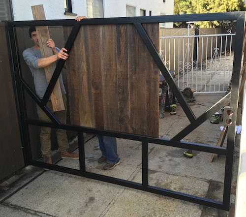 Iron Gate, Steel Fence, Los Angeles Gate, Metal Fence — Harwell Design - Fences, Driveway Gates, Los Angeles, Santa Monica