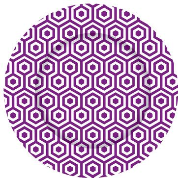 Purple Honeycomb Charger Plate contemporary chargers