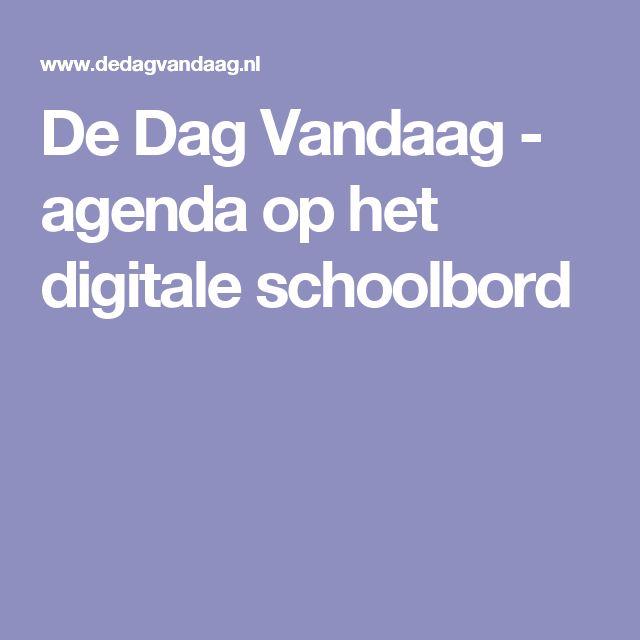 De Dag Vandaag - agenda op het digitale schoolbord