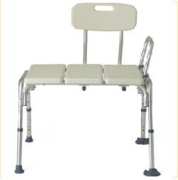 Medline Guardian Transfer Bench Aluminum Frame w/ Back