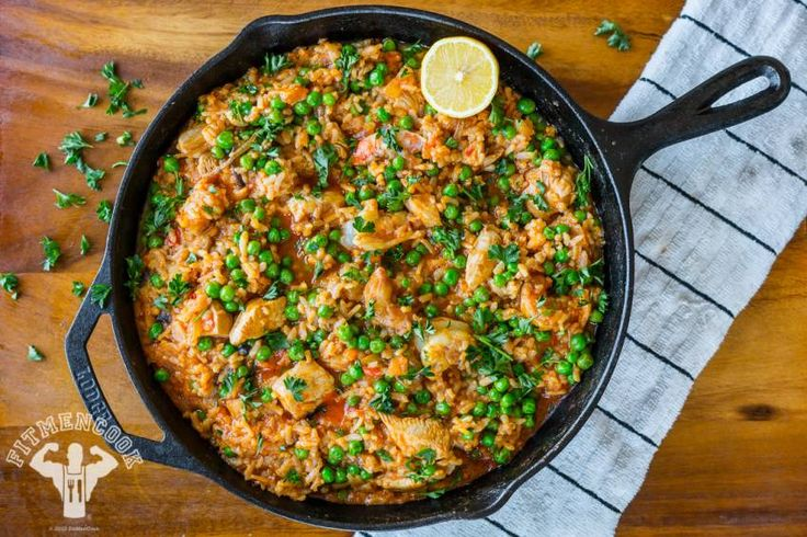 Here's a quick and easy take on a comfort meal favorite, paella.  This version is perfect for a post-workout meal, family dinner or your weekly meal prep. Rega