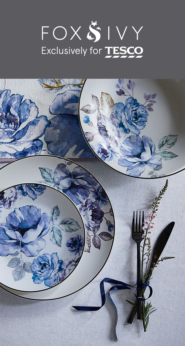 Explore the newly launched collection from Fox and Ivy exclusively for Tesco, our premium homeware brand. Featuring botanical patterns, sumptuous fabrics and mercury finishes, it's the perfect way to add a touch of luxury to your home. Click to see more