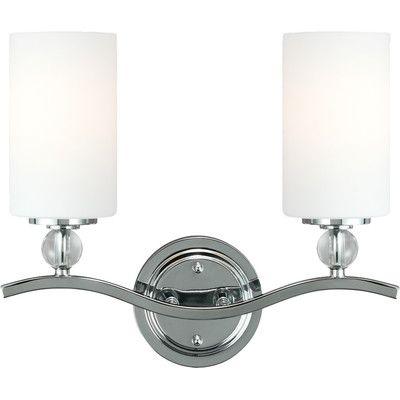Brayden Studio Dugas 2 Light Vanity Light Bulb Type: 100W A19 Medium