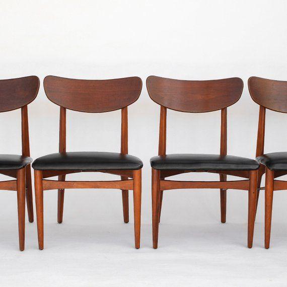 Enjoyable Mid Century Modern Dining Chairs Set Of 4 Danish Modern Short Links Chair Design For Home Short Linksinfo