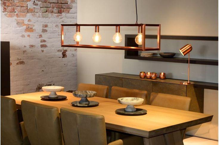 Hanglampen boven de tafel Lucide, Bloomingville, Zuiver, Eglo, Xooon