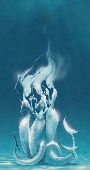 Dieu est une boite d'aquarelle.  Mermaids