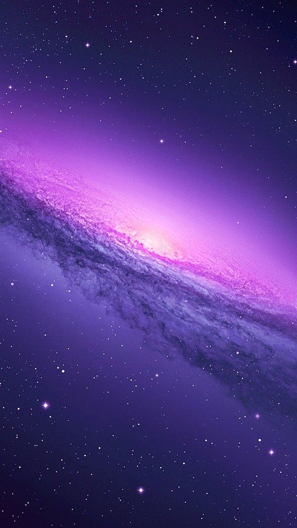 Purple Galaxy iPhone 6 Wallpaper