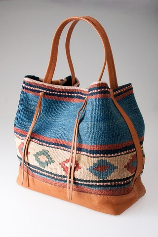 Kilim Tote in Natural by Tylie Malibu for $435.00 LOVE but hokey expensive