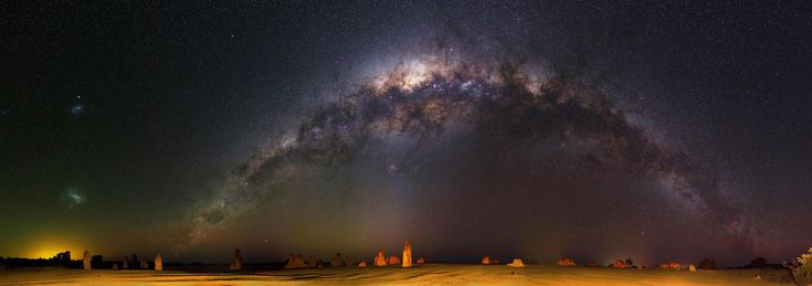 84-shot 740MP image of the Milky Way over The Pinnacles Desert in Western Australia by /u/inefekt [4582216146] (full-res link in comments) #reddit