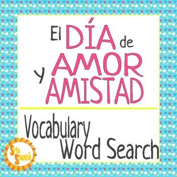 "Fun activity for beginning Spanish students or a great review for an intermediate student. Use word searches as homework, an after test activity, for fast finishers, as sub plans, or with some of my other seasonal activities to complete your lesson!Check out my other, similar products!Mi Perfil PersonalTengo Tu Love -Cloze + Listening*El Da de Amor y Amistad- Listening Activity ""Pick Up Lines""*This is also part of a bundle!How to get TPT credit to use on future purchases: Please go to your…"
