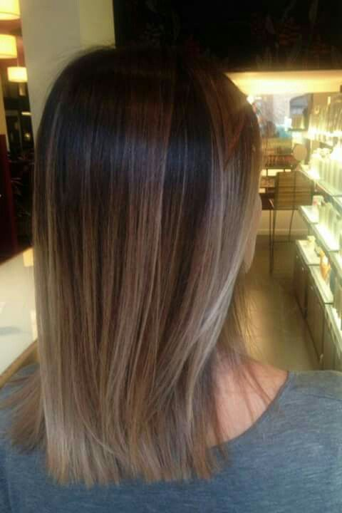 Brown ombré into icy blonde