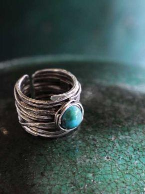 Zilveren ring turkoois  Verlanglijstje!