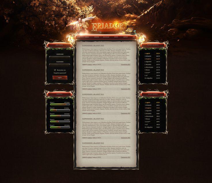 "Popatrz na mój projekt w @Behance: ""Eriador - Metin2 Webdesign"" https://www.behance.net/gallery/53707377/Eriador-Metin2-Webdesign"