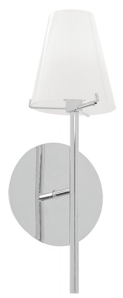 Access Lighting 1 Light Contemporary Bath Vanity Or Wall Sconce In Chrome  Finish With Opal