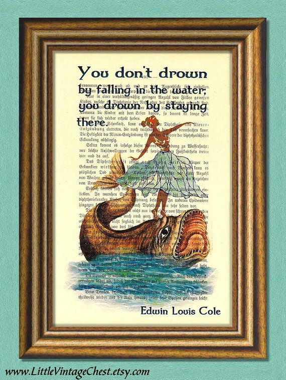 DROWNING Dictionary Art Print Wall Art  by littlevintagechest, $7.99
