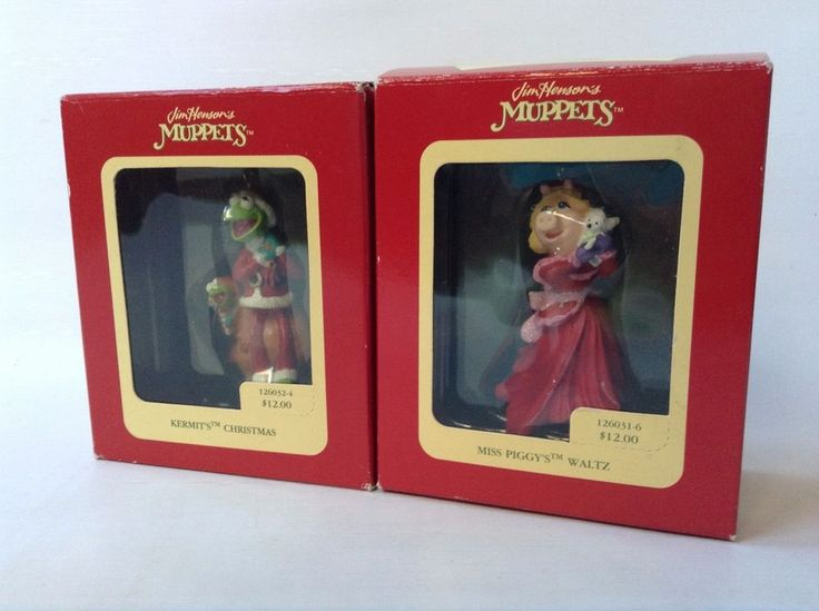 Heirloom Collection Carlton Cards Christmas Ornaments KERMIT & MISS PIGGY