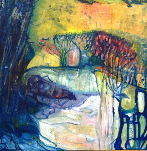 Jennifer Sulaj  Abstract Nature #3 75cmx90cm $1125.00 Available at Winter Art Soiree Event
