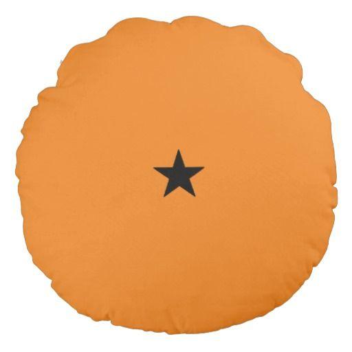Black star one star dragon ball round pillow