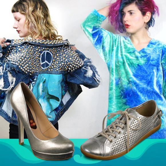 O estilo Seapunk reúne elementos psicodélicos com símbolos populares, além de elementos digitais e marinhos. As influências também vieram da música eletrônica, hip-hop e punk.  Saiba mais no blog ~> http://www.bottero.net/blog/tendencias-de-moda/saudosismo-e-atitude-com-o-estilo-seapunk/