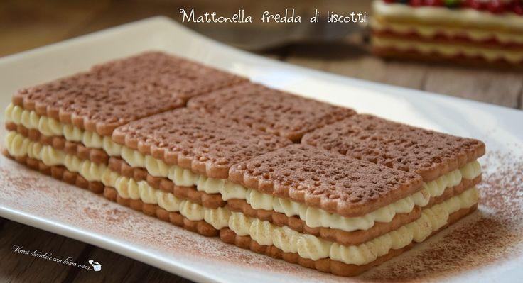Ecco un dolce davvero semplice e veloce da preparare: la mattonella fredda di biscotti! Si tratta di una torta fredda, senza cottura, adatta per l'estate.