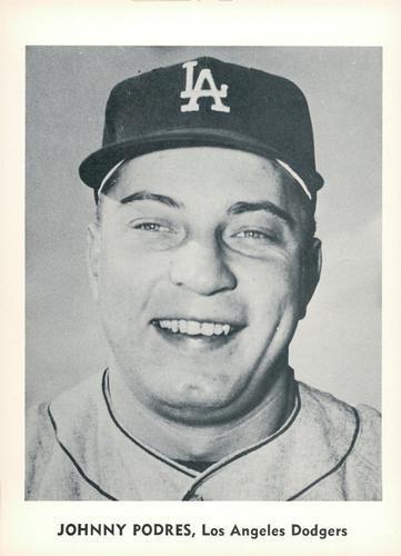 1960 Jay Publishing Los Angeles Dodgers #NNO Johnny Podres Front