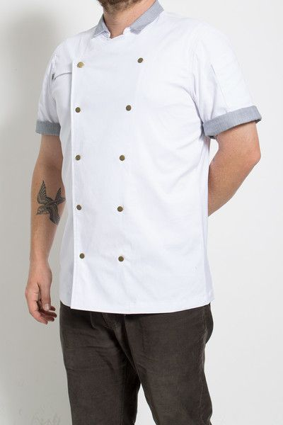 A new breed of chef coats, designed and built in Los Angeles for the boldest of chefs.