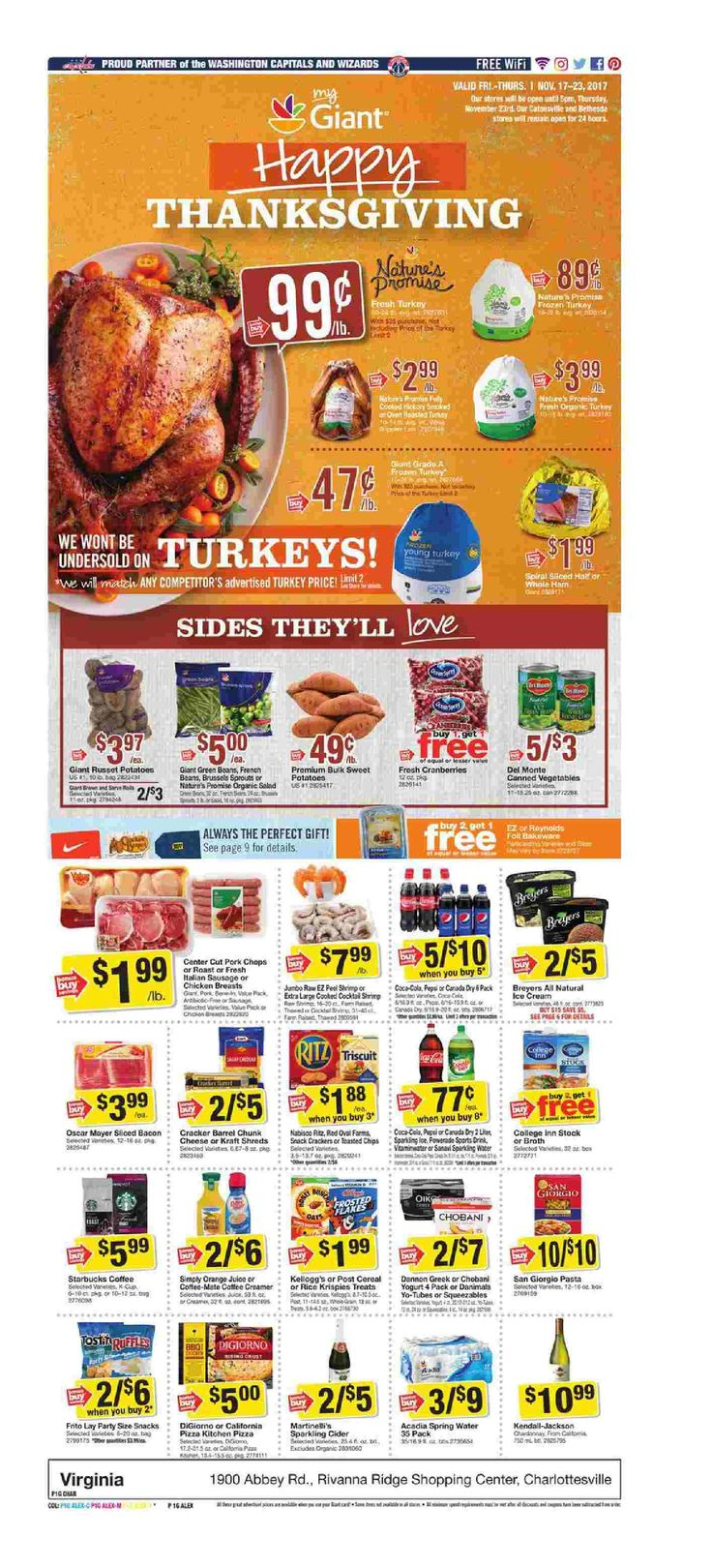 Giant Food Weekly Ad November 17 - 23, 2017 - http://www.olcatalog.com/grocery/giant-food-weekly-ad.html