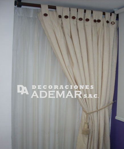 12 best images about cortinas para sala on pinterest for Cortinas de tela modernas