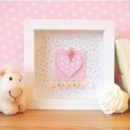 Personalised Pink Heart Frame