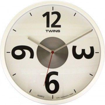 Twins nástenné hodiny 2789 white 26cm
