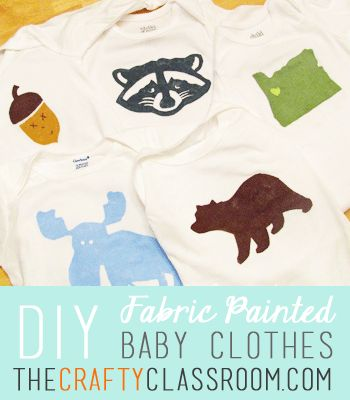 Freezer Paper stencil baby clothing